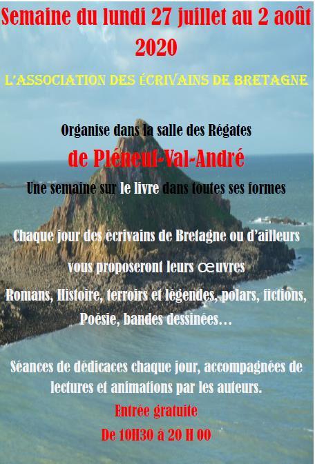 AEB-affiche semaine sur le livre Pleneuf-Val Andre 27-07-2020 au 02-08-2020